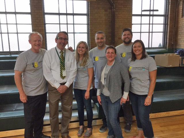 Signature Team Cares Volunteers at Detroit Cristo Rey